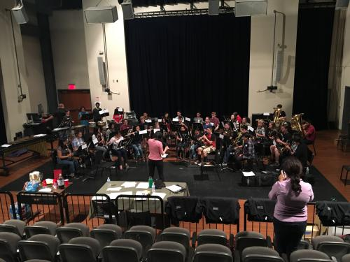 2017 Honor Band rehearsal with Dr. Patricia Cornett