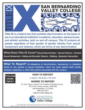 For information on Title IX, see the PDF of this flyer.
