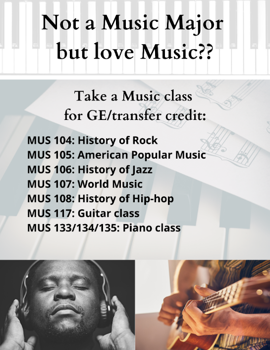 Not a Music Major? You've got options!
