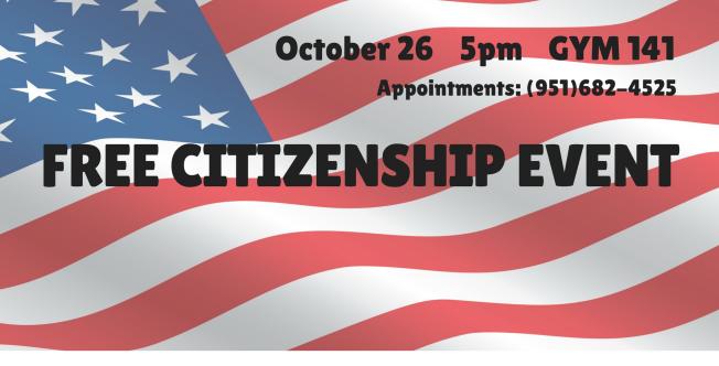 October 26 > Free Citizenship Event