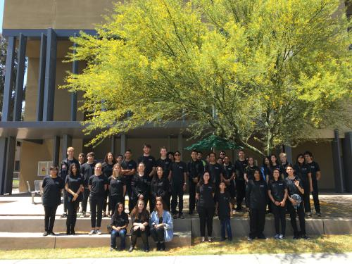 2017 Honor Band participants pose in front of MAC Recital Hall