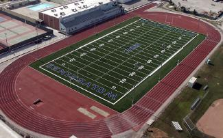 football field from aerial view