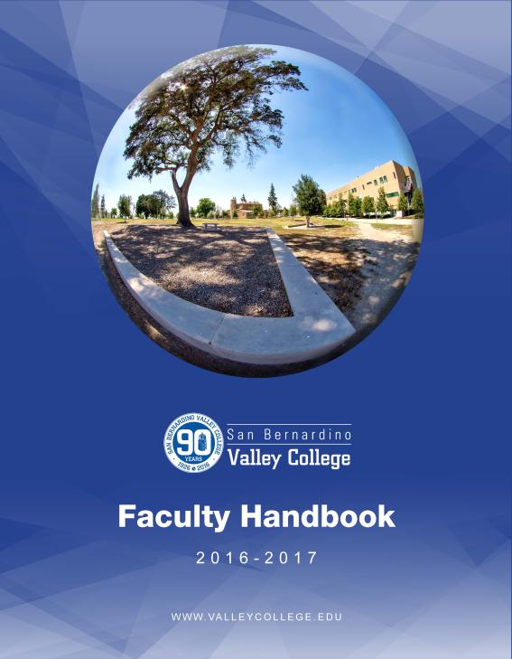 Faculty Handbook can now be found on WebAdvisor