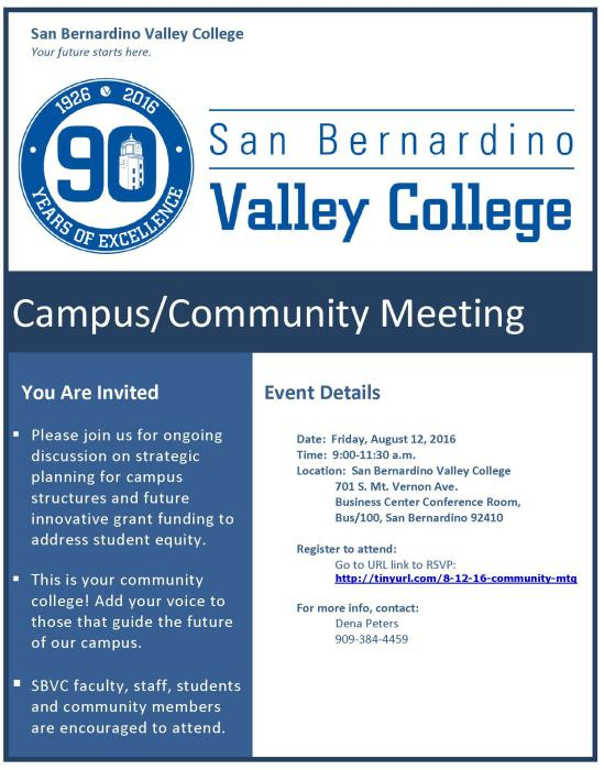 campus-community event flyer