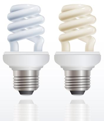 picture of two fluorescent light bulbs