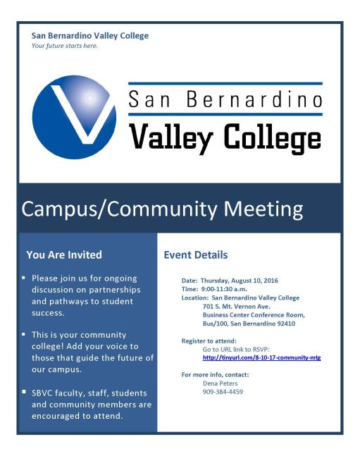 Community and Campus Meeting