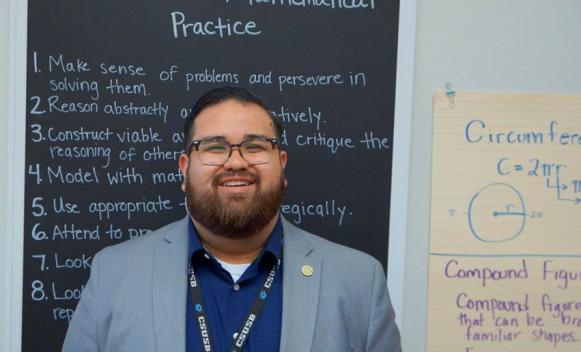 A teacher at Curtis Middle School in San Bernardino, Richard Tejada is exactly where he wants to be.