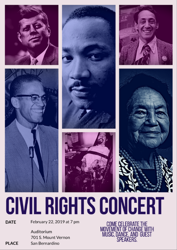 Civil Rights Concert February 22nd 7pm