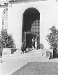 1952 Library Entrance