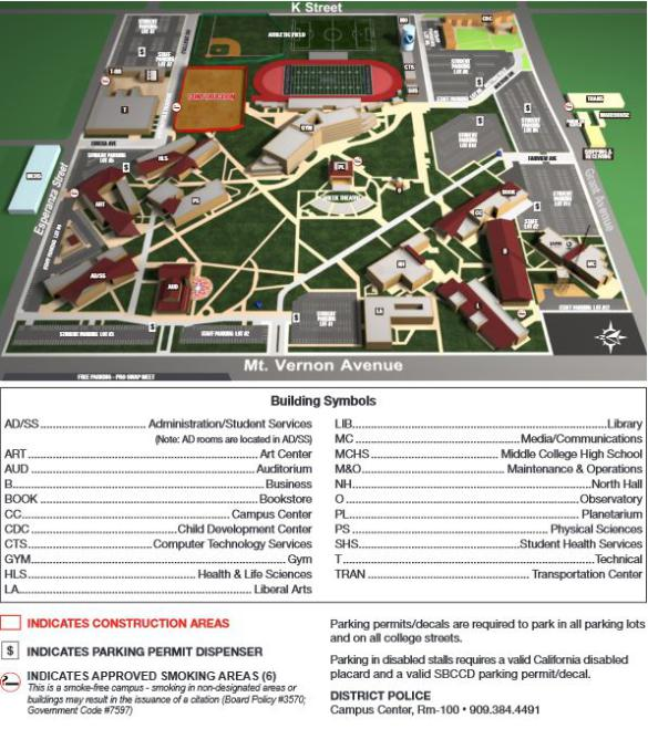 South Mountain Community College Campus Map.Maps Directions Parking