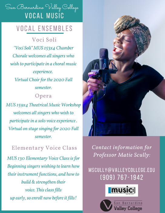 Vocal Ensembles Flyer