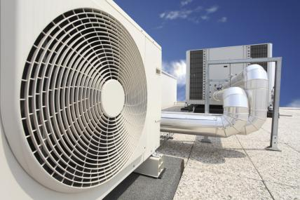 picture of rooftop air conditioning fan system