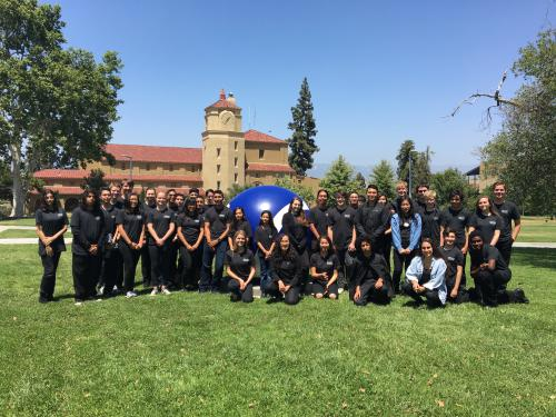 2017 Honor Band participants pose in front of SBVC auditorium