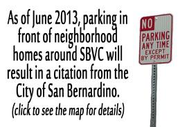 parking in neighborhood will result in ticket