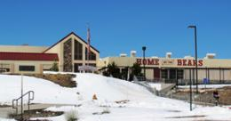 Big Bear High School In Winter