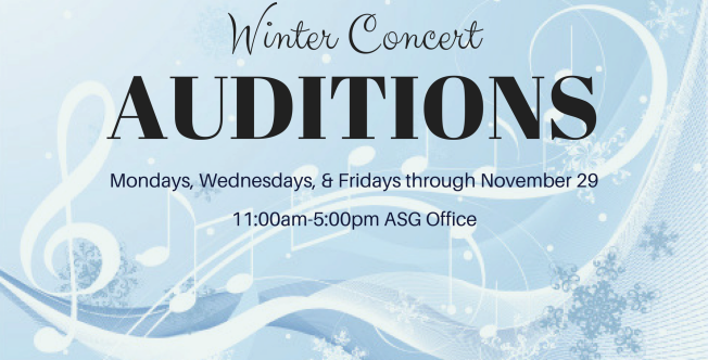 Winter Concert Auditions