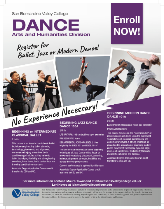 Dance Classes for Fall 2019