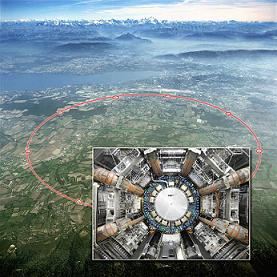 Overview of Cern Supercollider with insert of ATLAS Detector