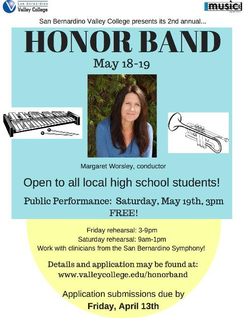 Honor Band! May 18-19 2018