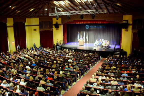 Inside the historic SBVC Auditorium during the swearing-in ceremony for California State Assemblymember Eloise Gómez Reyes.