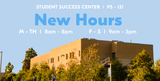 Student Success Center New Hours