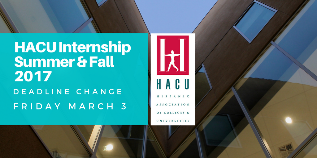 HACU Internship Apps Due March 3