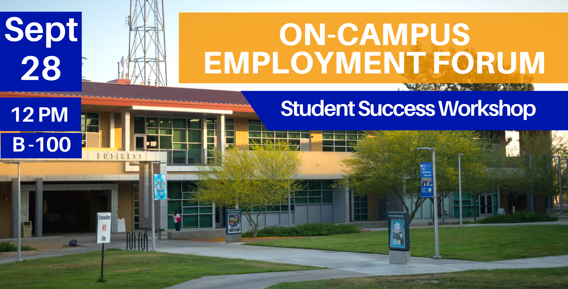 September 28 > On-Campus Employment Forum