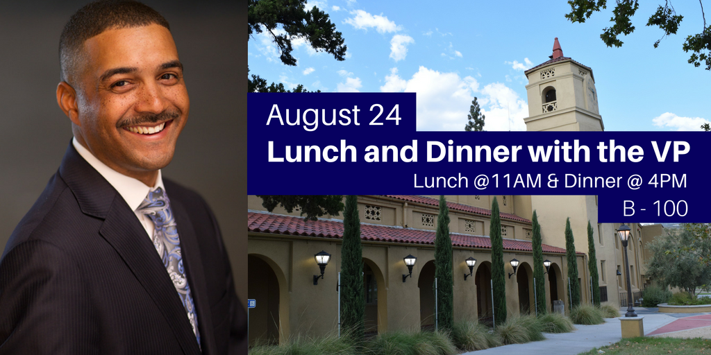 August 24 > Lunch and Dinner with the VP!