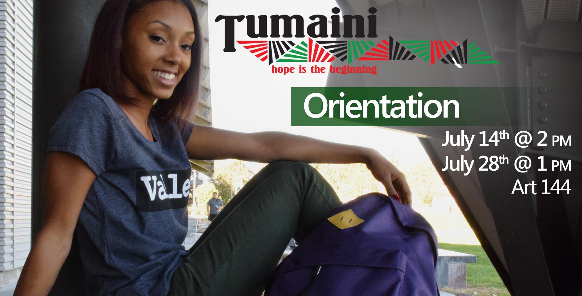 July 28 > Tumaini Program Orientation