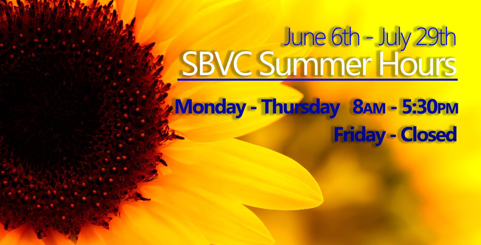 SBVC Summer Hours