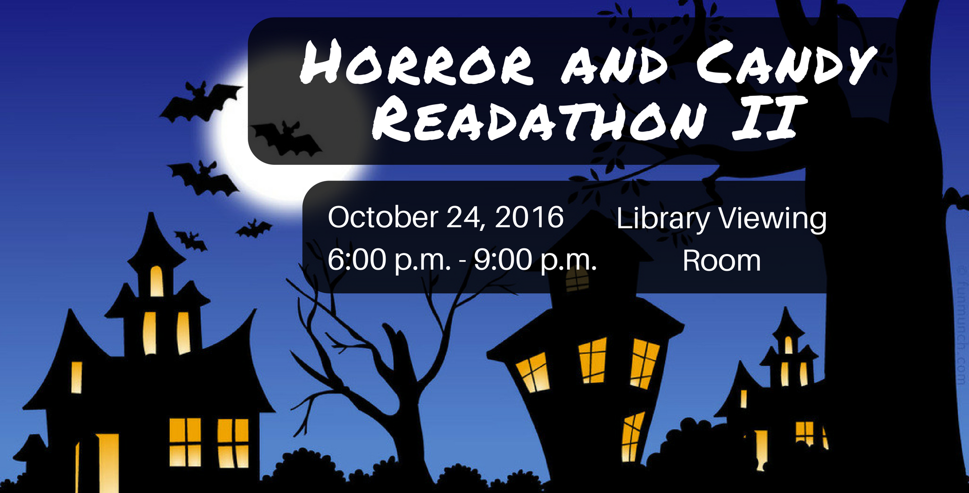 October 24 > Horror & Candy Readathon