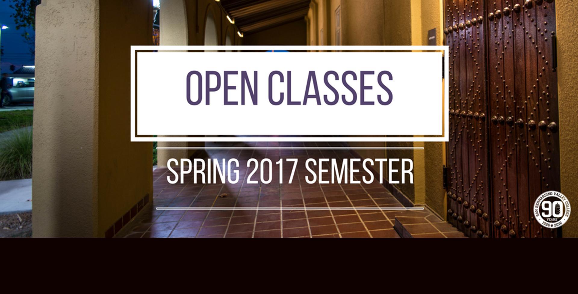 Spring '17 Open Classes >