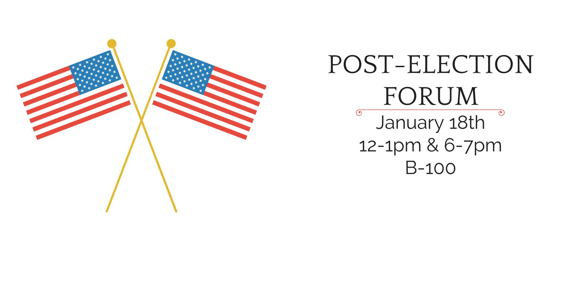Post-Election Inauguration Forum