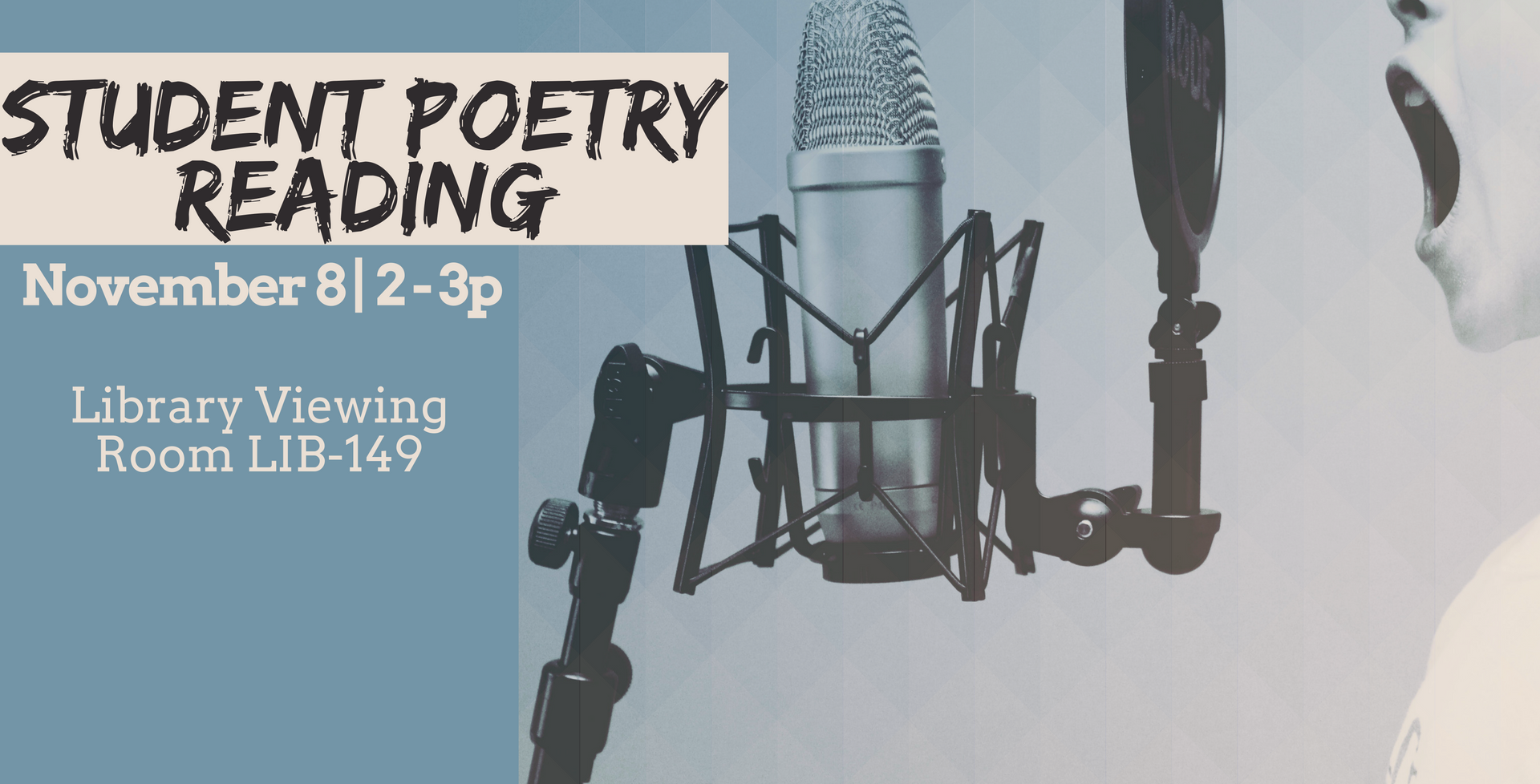 November 8 > Student Poetry Reading