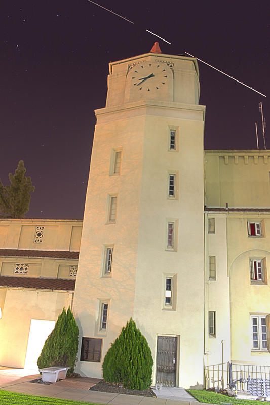 SBVC campus buildings at night